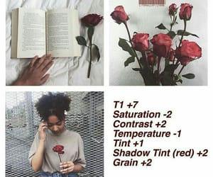 girl, vsco filter, and rose image