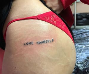 tattoo, self love, and love yourself image