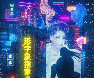 neon, cyber, and cyberpunk image