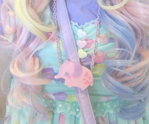colorful, girl, and pastel image