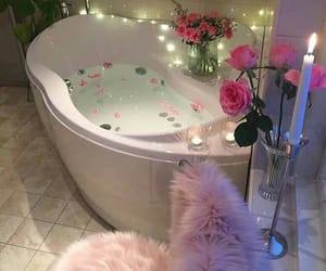 bath, pedals, and tub image
