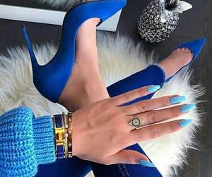 fashion, blue, and nails image