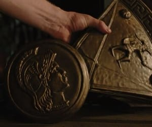 gold, percy jackson, and magic image