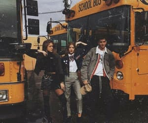 school, friends, and outfit image
