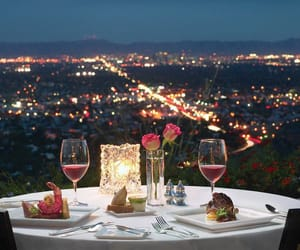 romantic, dinner, and city image