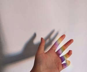 aesthetic, hand, and light image