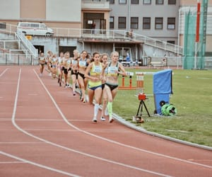 athlete, athletics, and track and field image
