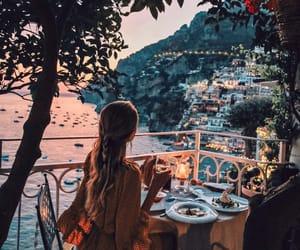 travel, girl, and dinner image