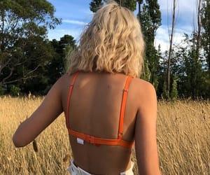 aesthetic, blonde, and orange image