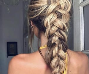love life quotes, outfit fashion clothes, and hair blonde braid image