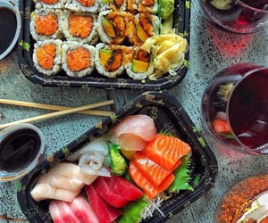 delicious, sushi, and yummy image