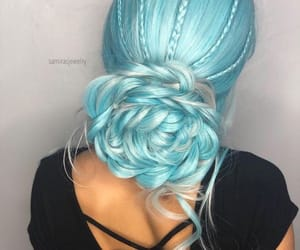 blue hair, dyed hair, and hair image