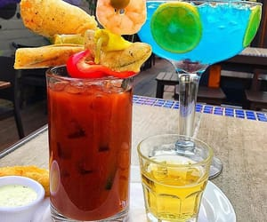 blue, drinks, and food image