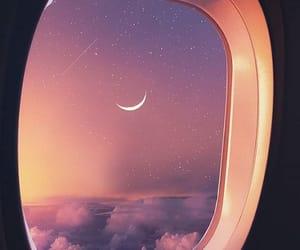 moon, sky, and plane image