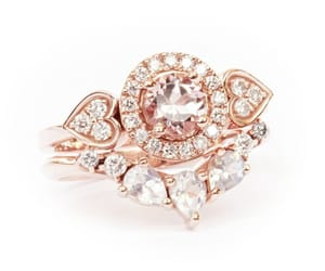 diamonds, rings, and rose gold image