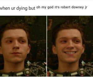 Marvel, robert downey jr, and spiderman image