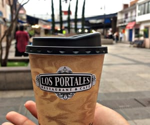 coffee, vaso, and portales image