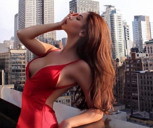 luxury, dress, and red image