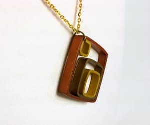 handmade jewelry, handmade necklace, and paper necklace image