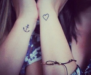 heart, tattoo, and anchor image