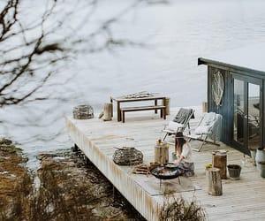 lake, cabin life, and lakeside image