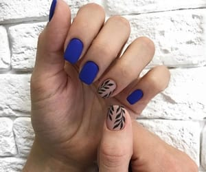 blue, colors, and manicure image