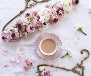 flowers, coffee, and decorations image