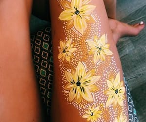art, summer, and body art image