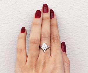 rose gold, diamond wedding ring, and anniversary ring image