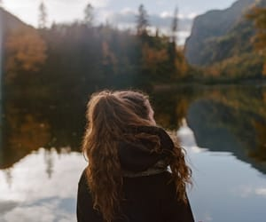 girl, autumn, and cold image