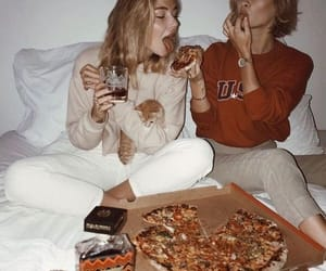 pizza, friends, and bff image