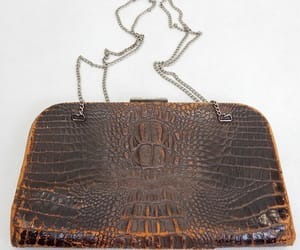 1920s, crocodile skin, and antique bag image