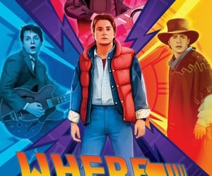 80's, Back to the Future, and illustration image