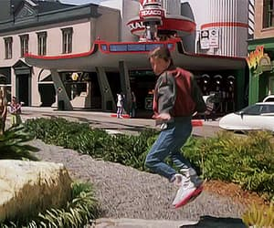 80's, Back to the Future, and gif image