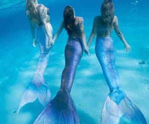 mermaid, ocean, and fantasy image