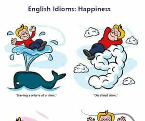 english, happiness, and idioms image