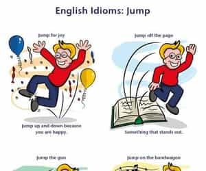 english, idioms, and jump image