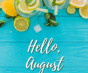 August, summer, and month image