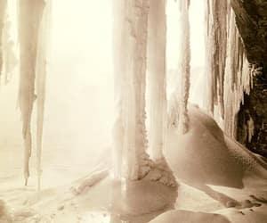 frozen, niagara falls, and photograph image
