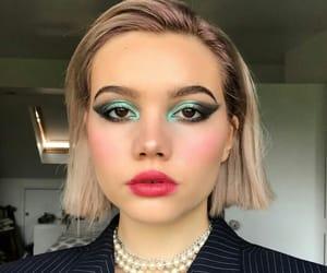 beauty, makeup, and short hair image