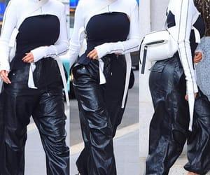 beauty, fashion, and leather pants image