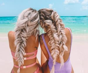 blondes, swinsuit, and braids image