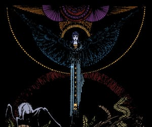 angel, Art Nouveau, and damned image
