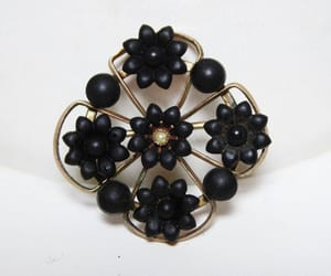 etsy, victorian, and black beads image
