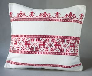 etsy, decorative pillow, and nordic reindeer's image