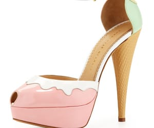 charlotte olympia, ice cream, and high heels image