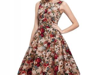 cocktail dress, party, and floral print image