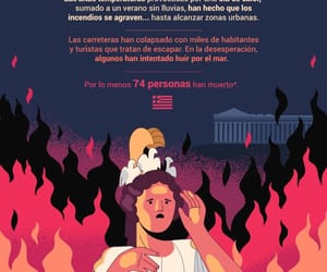 Athens, Greece, and fuego image