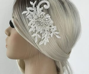 hair jewelry, wedding accessories, and bridal accessories image
