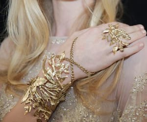 girl, aesthetic, and gold image